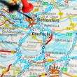 Rotterdam on map — Stockfoto #11559424