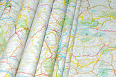 Maps folded — Stock Photo