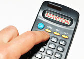 Nutrition calculator — Stock Photo