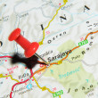 Sarajevo on map — Stock Photo