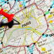 Paris on map — Stock Photo