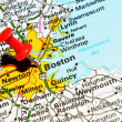 Boston city on map — Stock Photo #11561279