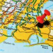 Stock Photo: New York on map