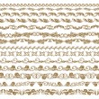Horizontal elements decoration vector - Stok Vektr