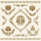 Set of vector damask ornaments. — Stock Vector