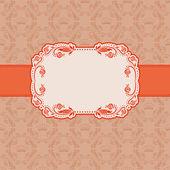 Template frame design for greeting card . — Vecteur