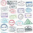 Vector Pasport Stamps - Stock Vector