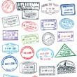 Vector Pasport Stamps — Stock Vector