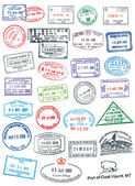 Vector Pasport Stamps — Stock Vector