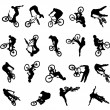 Jumping Bikes - Stock Vector