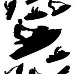 Jetski Silhouettes — Stock Vector #11402916