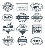 Grunge pulları satmak — Stok Vektör