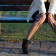Beautiful slim woman's legs — Stock Photo
