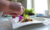 Saute Shrimps with stir fry garden vegatables — Stock Photo