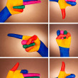A set of hand gestures — Stock Photo #11330133