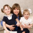 Mother with two daughters — Stock Photo