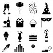 Stock Vector: Party and celebration icons