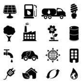Eco and environment icons — Stock Vector