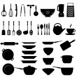 Kitchen utensil icon set - Stock Vector