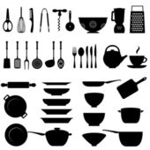 Kitchen utensil icon set — Stock Vector