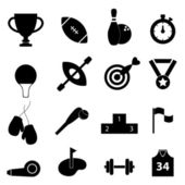 Sports related icon set — Stock Vector