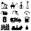 Oil industry icon set - Image vectorielle
