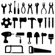 Tools icon set — Stock Vector
