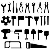 Zestaw ikon narzędzi — Wektor stockowy
