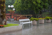 Raining outside. — Stock Photo