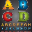 Four Graphic Styles Alphabet — Vector de stock #11362994