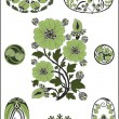 Royalty-Free Stock Vektorfiler: Art Nouveau - flower pattern