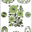 Royalty-Free Stock Imagen vectorial: Art Nouveau - flower pattern