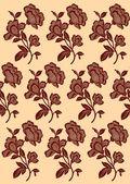 бесшовный фон - фиолетовый цветок — Cтоковый вектор