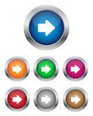 Right arrow buttons — Stock Vector