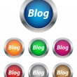 Blog buttons — Stock Vector