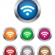 Wi-Fi buttons - Stock Vector