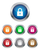 Lock buttons — Stock Vector