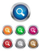 Botones de búsqueda — Vector de stock