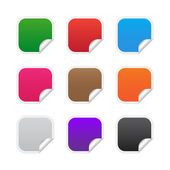 Colorful square labels — Stock Vector