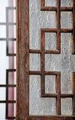 Old Wooden Chinese Window Beijing, China — Stock Photo