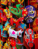 Chinese Colorful Souvenir Silk Decorations Beijing, China — Stock Photo