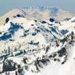 Snowy Mount Saint Helens and Ridge Lines — Stock Photo