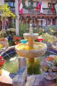 Fountain Margarita Glasses Flowers Garden Cactus Old San Diego C — Stock Photo
