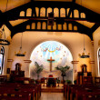 Altar Interior Cross Immaculate Conception Church Old San Diego — Stock Photo #11173342