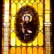 Stock Photo: Friar Junipero SerrStained Glass Immaculate Conception Church
