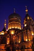 Iglesia ortodoxa de santa sofía rusa cúpula china harbin detalles — Foto de Stock