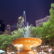 Stock Photo: Fountain Bryant Park New York City Night