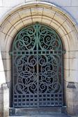 Yale University Doorway Iron Gate — Stock Photo