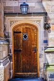 Yale Universität Tür Holztür — Stockfoto