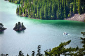 Diablo Lake Boat North Cascades National Park Washington Pacific — Stock Photo